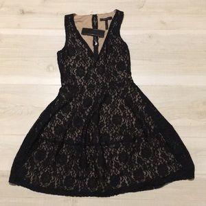 BCBGMaxAzria black lace sleeveless dress